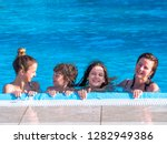 portrait of a happy family... | Shutterstock . vector #1282949386