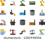 color flat icon set oil... | Shutterstock .eps vector #1282958506