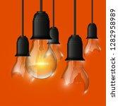 broken   whole light bulb...   Shutterstock .eps vector #1282958989