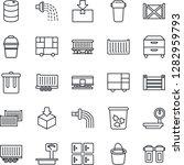 thin line icon set   trash bin... | Shutterstock .eps vector #1282959793