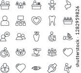 thin line icon set   baby... | Shutterstock .eps vector #1282959826