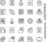 thin line icon set   stamp... | Shutterstock .eps vector #1282959829