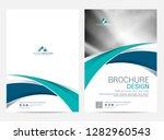 brochure template flyer design... | Shutterstock .eps vector #1282960543