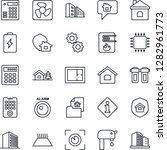 thin line icon set   office... | Shutterstock .eps vector #1282961773