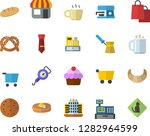 color flat icon set spring... | Shutterstock .eps vector #1282964599