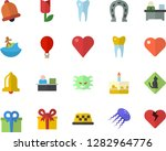 color flat icon set cake flat... | Shutterstock .eps vector #1282964776