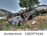 abandoned  disused  nature... | Shutterstock . vector #1282974166