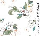 abstract flower seamless... | Shutterstock .eps vector #1282980469