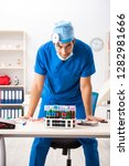 mad doctor working in the...   Shutterstock . vector #1282981666