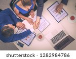 business people sitting and... | Shutterstock . vector #1282984786