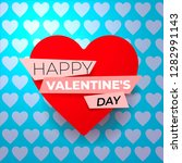 happy valentine's day card with ... | Shutterstock .eps vector #1282991143