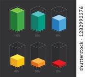 rainbow colors chart glass bars ...