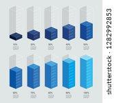 blue gradient isometric chart...