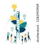 vector illustration  a man... | Shutterstock .eps vector #1282993909