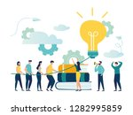 vector illustration  teamwork ... | Shutterstock .eps vector #1282995859