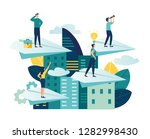 vector illustration  a man... | Shutterstock .eps vector #1282998430