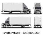 realistic truck. front view ... | Shutterstock .eps vector #1283000650