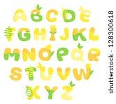 multicolored spring vector... | Shutterstock .eps vector #128300618