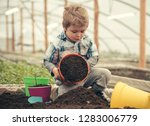 ecology care. ecology care by...   Shutterstock . vector #1283006779