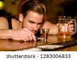 do not drive drunk. man drinker ... | Shutterstock . vector #1283006833