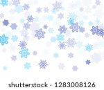 blue paper snowflakes flying... | Shutterstock .eps vector #1283008126