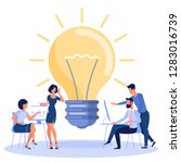 bright idea  development... | Shutterstock .eps vector #1283016739