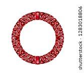 round frame made of realistic... | Shutterstock .eps vector #1283018806