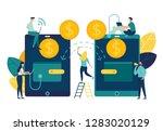 vector illustration  financial... | Shutterstock .eps vector #1283020129