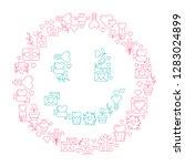 smile love poster template in... | Shutterstock .eps vector #1283024899
