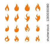 fire flame logo icon set ... | Shutterstock .eps vector #1283030380