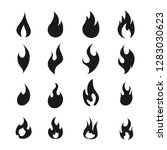 fire flame logo icon set ... | Shutterstock .eps vector #1283030623