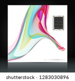 abstract colorful wavy lines... | Shutterstock .eps vector #1283030896