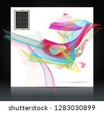abstract colorful wavy lines... | Shutterstock .eps vector #1283030899