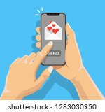 sending love message concept.... | Shutterstock .eps vector #1283030950