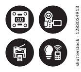 4 vector icon set   weighing ... | Shutterstock .eps vector #1283034913