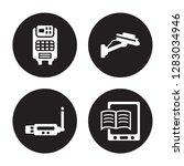 4 vector icon set   air... | Shutterstock .eps vector #1283034946