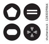 4 vector icon set   pentagon ... | Shutterstock .eps vector #1283039866