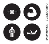 4 vector icon set   athletic... | Shutterstock .eps vector #1283039890