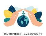 vector illustration  hands... | Shutterstock .eps vector #1283040349