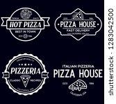 set of pizza logo  badges ... | Shutterstock .eps vector #1283042500
