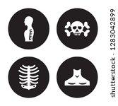 4 vector icon set   human spine ... | Shutterstock .eps vector #1283042899