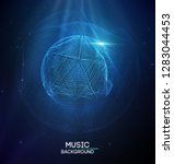 music abstract background blue. ...   Shutterstock .eps vector #1283044453