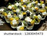 catering fourchette buffet... | Shutterstock . vector #1283045473