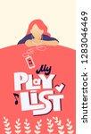 my playlist hand drawn stylized ... | Shutterstock .eps vector #1283046469