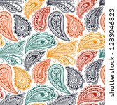 paisley seamless pattern.... | Shutterstock .eps vector #1283046823