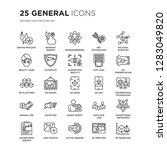 set of 25 general linear icons... | Shutterstock .eps vector #1283049820