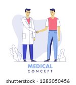 medicine concept with doctor... | Shutterstock .eps vector #1283050456