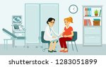 medicine concept with... | Shutterstock .eps vector #1283051899
