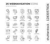 set of 25 webnavigation linear... | Shutterstock .eps vector #1283057836