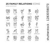 set of 25 family relations... | Shutterstock .eps vector #1283058073